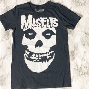 Misfits Black Graphic Tee Size Small
